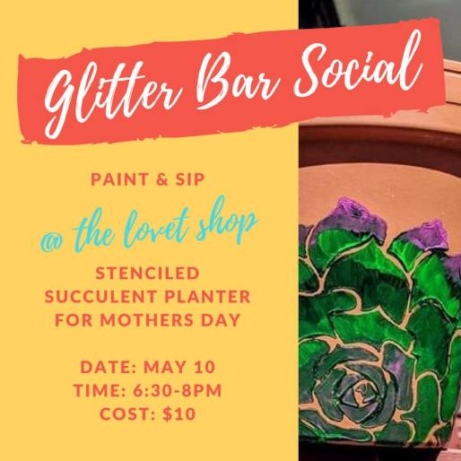 lovet paint n sip glitter bar